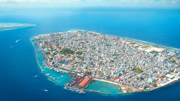 Male, the capital island of the Maldives.