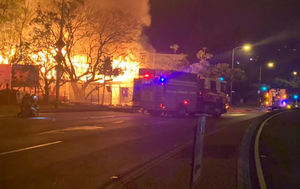 Former police station, part of new childcare centre destroyed in fierce overnight blaze
