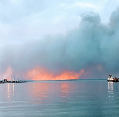 The waterfront hotel got a front row seat last year, as fires raged through East Gippsland.