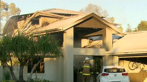 It is understood the blaze broke out in a bedroom. Picture: 9NEWS