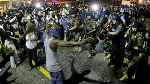 St Louis, Missouri, has a very tense relationship with police and citizens.