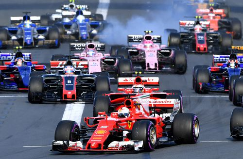 F1 race starts are often chaotic. (AAP)