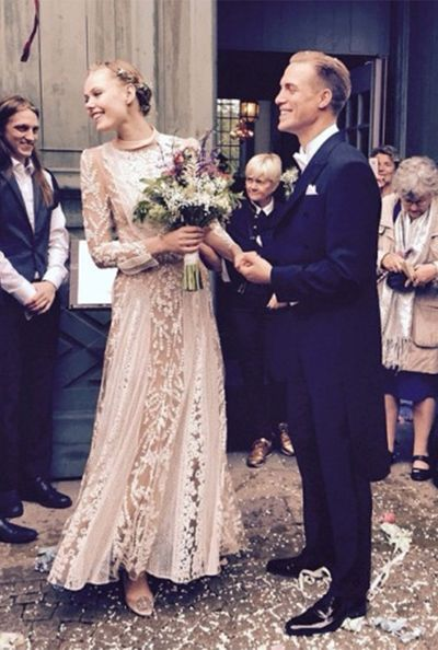<strong>Who:</strong> Model Frida Gustavsson married photographer Hjalmar Rechlin <br /><strong>Dress:</strong> Valentino Couture<br /><strong>Where:</strong> Her hometown in Sweden
