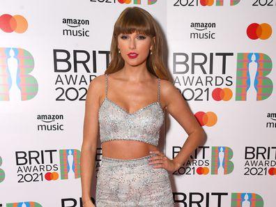 Taylor Swift at the 2021 BRIT Awards