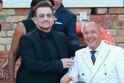 George and Amal were joined by 90 of their closest friends and family for the reception, during which the pair reportedly exchanged vows. <br/><br/>And U2 front man Bono was there to celebrate too! <br/><br/>