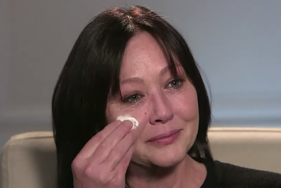 Shannen Doherty broke down as she recalled early symptoms of her cancer's return.