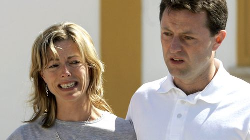 Kate and Gerry McCann, the parents of the missing girl Madeleine McCann, talk to the press in May 2007 after attending a church service in Praia da Luz.