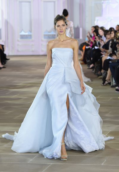 <p>Princess (Elsa) for a day</p> <p>Ice blue is all about selflessness and is the colour of healing. </p> <p>Ines Di Santo, Spring 2017, New York Bridal Fashion Week</p>