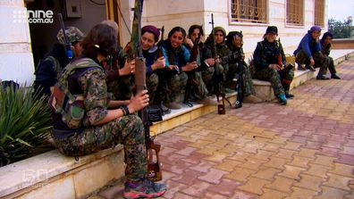 Tara Brown said the mothers, wives and daughters who make up the YPJ are highly trained, committed and absolutely fearless.