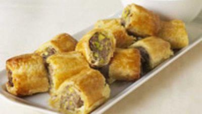 "<a href=""http://kitchen.nine.com.au/2016/05/18/03/53/sausage-rolls"" target=""_top"">Sausage rolls</a> recipe"