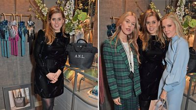 Princess Beatrice attends glitzy fashion event