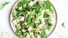 Broccolini goat cheese zucchini fettuccine