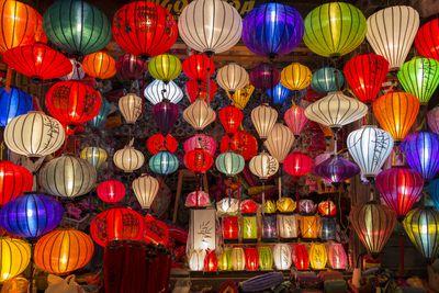 3. Lanterns and woodwork in Vietnam