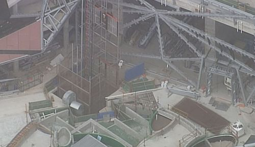 Three men have been taken to hospital after an accident on a building site on the Gold Coast.