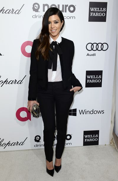 Kourtney Kardashian at the 22nd Annual Elton John AIDS Foundation's Oscars viewing party in Hollywood, March, 2014