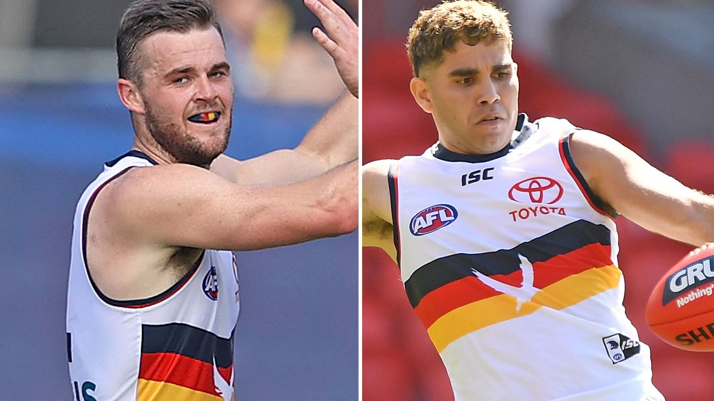 Adelaide Crows players Tyson Stengle and Brad Crouch suspended by AFL