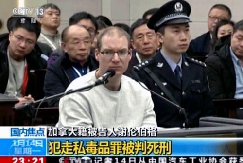 Robert Lloyd Schellenberg is handed the death sentence in Dalian Intermediate People's Court, China.