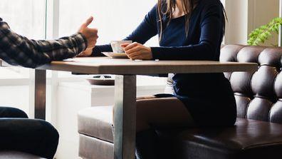 Cheating husband at restaurant