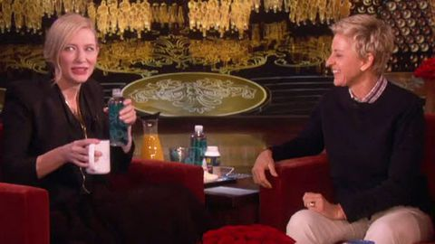 Watch: Cate Blanchett reveals Oscar night threesome with husband on Ellen