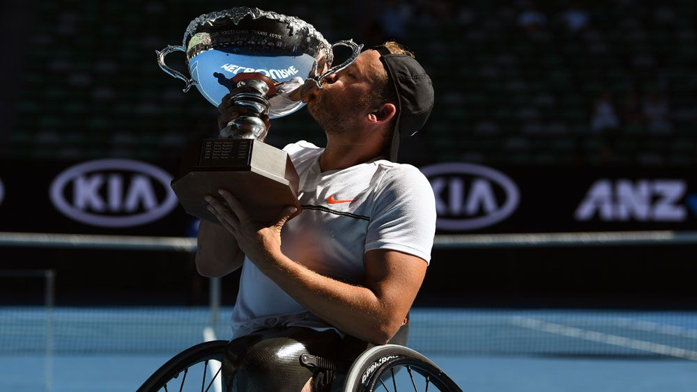 Dylan Alcott is making the Australian Open title his own. (AAP)