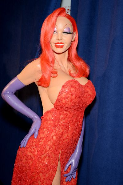 That's actually Heidi Klum in there playing Jessica Rabbit.