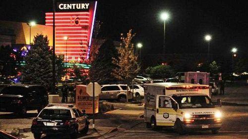 The scene of the Batman cinema shooting, the Century 16 Theatre in Aurora, Colorado, on 20 July 2012. (AP)