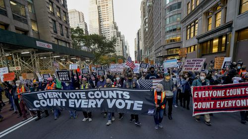 Protests in New York