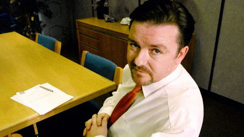 Ricky Gervais visiting US Office
