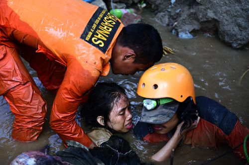Rescuers are still pulling survivors from collapsed buildings, with voices heard in the rubble.