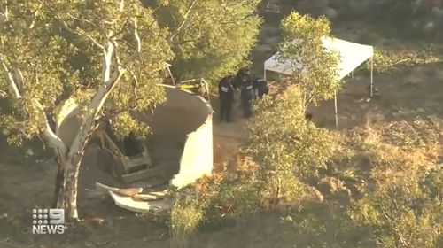 Police search a property once occupied by Francis Wark in Badgingarra, for Hayley Dodd's remains.