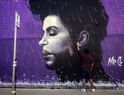 Prince remembered in giant murals in Melbourne and Sydney