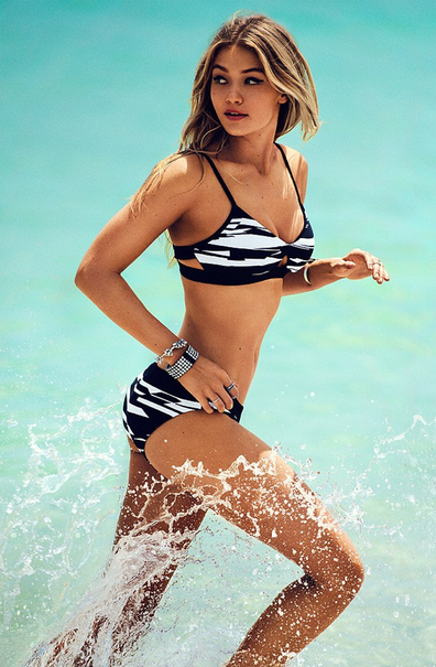 Gigi Hadid Seafolly bikini shoot