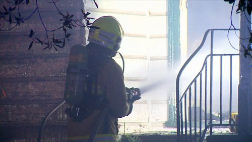 Thankfully, no-one was injured during the blaze. Picture: 9NEWS