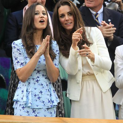 Kate and Pippa Middleton, 2012
