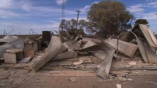The remains of their home. (9NEWS)