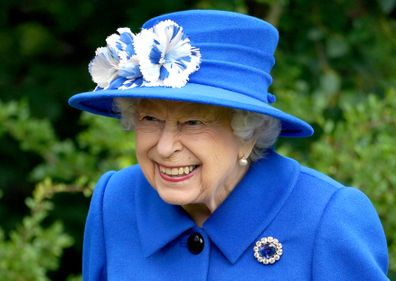 Queen Elizabeth II visits the Children's Wood Project, a community project in Glasgow as part of her traditional trip to Scotland for Holyrood Week on June 30, 2021 in Glasgow, Scotland