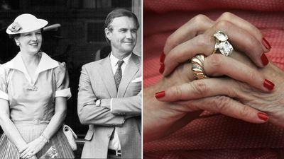 Queen Margrethe II of Denmark:  'Toi et moi' diamond ring