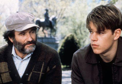 Matt Damon and Robin Williams starred in Good Will Hunting. (AAP)