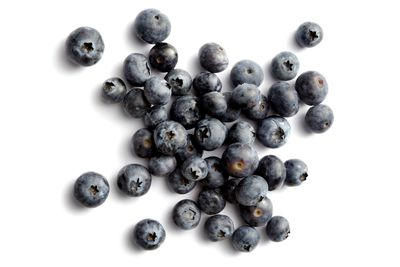 Whole blueberries: 10g sugar per 100g