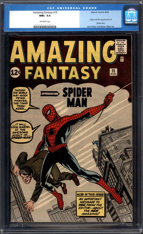 This comic book - Amazing Fantasy #15 - was released by ComicConnect/MetropolisComics. (AAP)