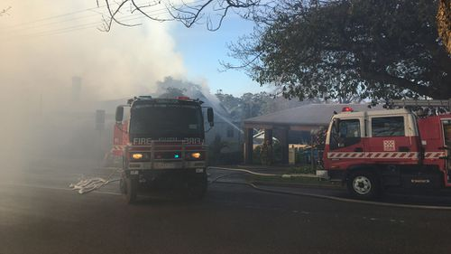 The Ranges Hotel in Gembrook went up in flames just after 6am.