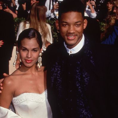 Will Smith with his first wife Sheree Zampino at the Emmy Awards in Pasadena, California.
