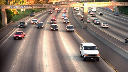 Simpson led police on a police chase that was broadcast on live television. (AP/AAP)