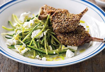 Dukkah lamb chops with salad