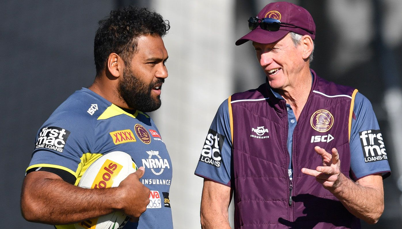 Sam Thaiday and Wayne Bennett