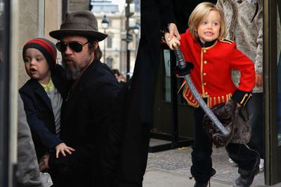 The famous tomboy daughter of Brad Pitt and Angelina Jolie was given $10,000 by her dad for a shopping spree in Paris.