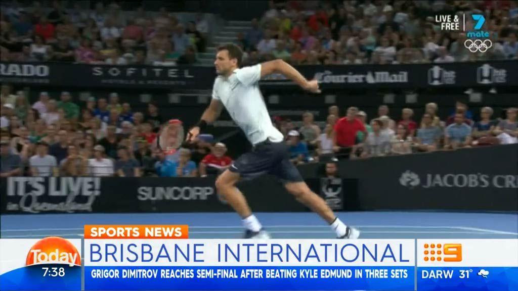 Brisbane International: Grigor Dimitrov wary of Nick Kyrgios 'tap' strategy as pair set for semi-final showdown