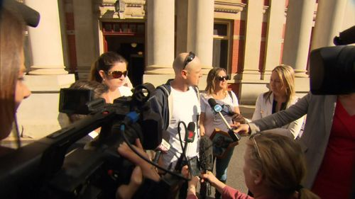 """Glenn's family spoke outside court, """"it's a terrible tragedy what's happened to our family."""" Picture: 9NEWS"""