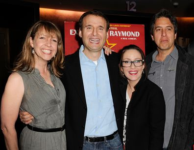 From left to right: Everybody Loves Raymond star Monica Rosenthal, creator Phil Rosenthal, Patricia Heaton and Ray Romano in 2011.