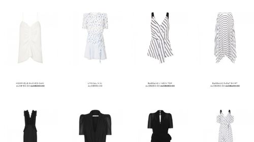 The Australian label's clothing is priced from about $200. (Camilla and Marc)
